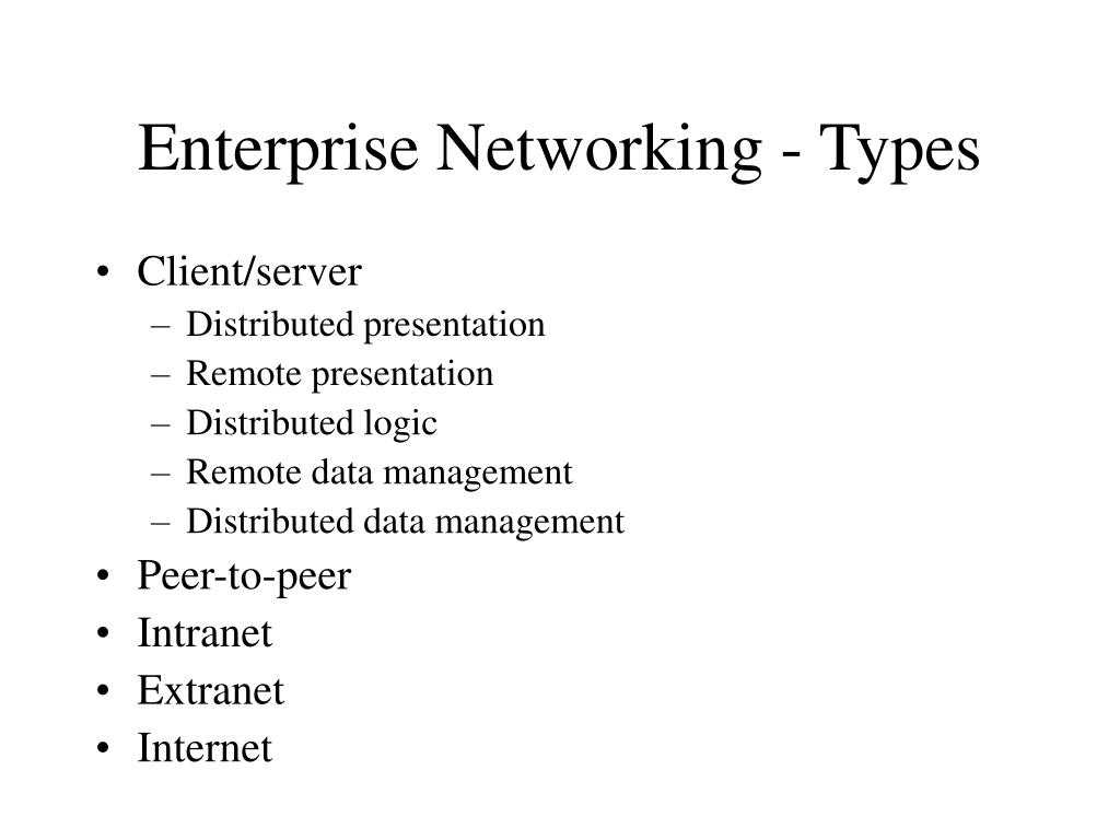 Enterprise Networking - Types