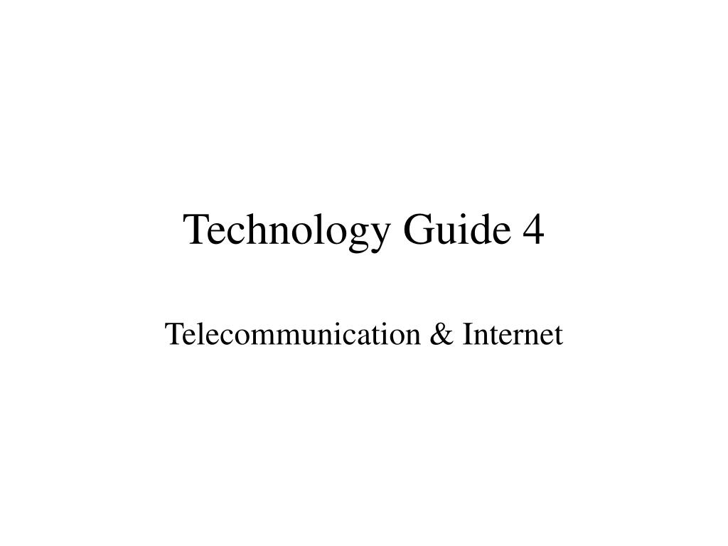 technology guide 4