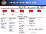 program installation plan