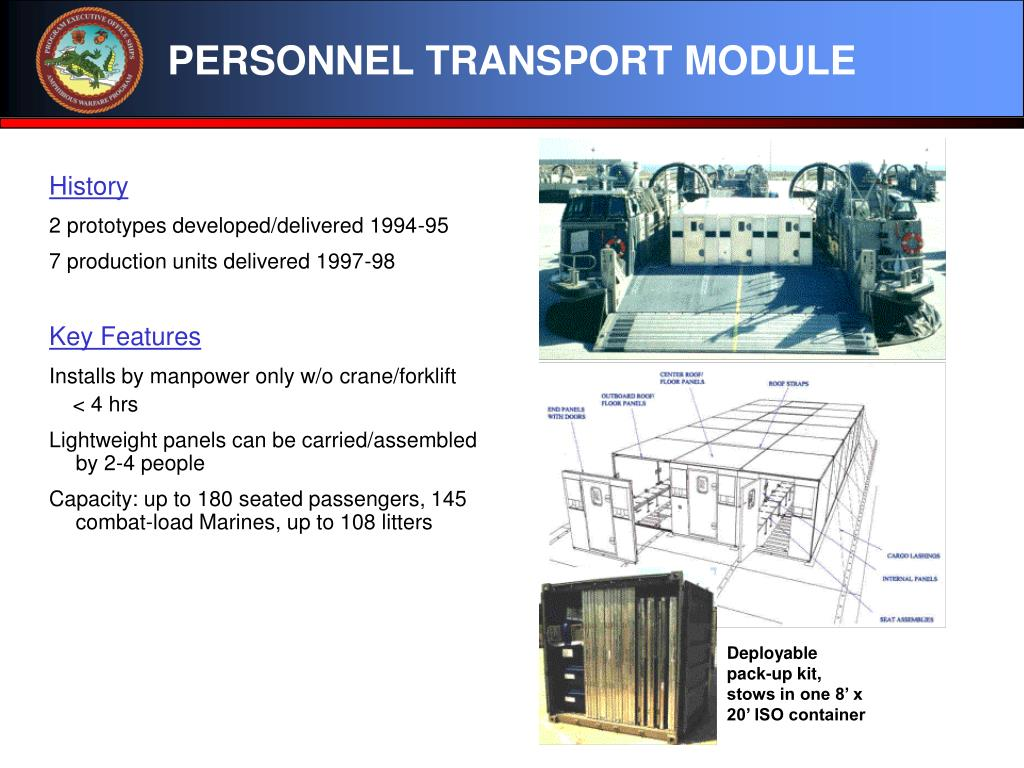 PERSONNEL TRANSPORT MODULE