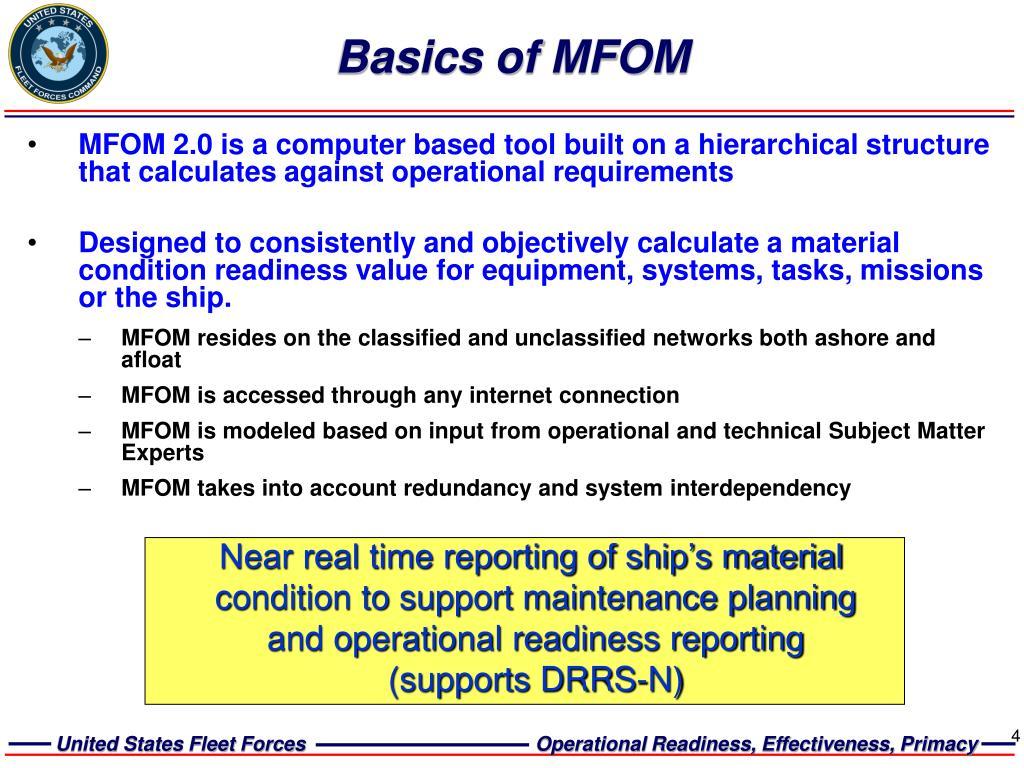 Basics of MFOM