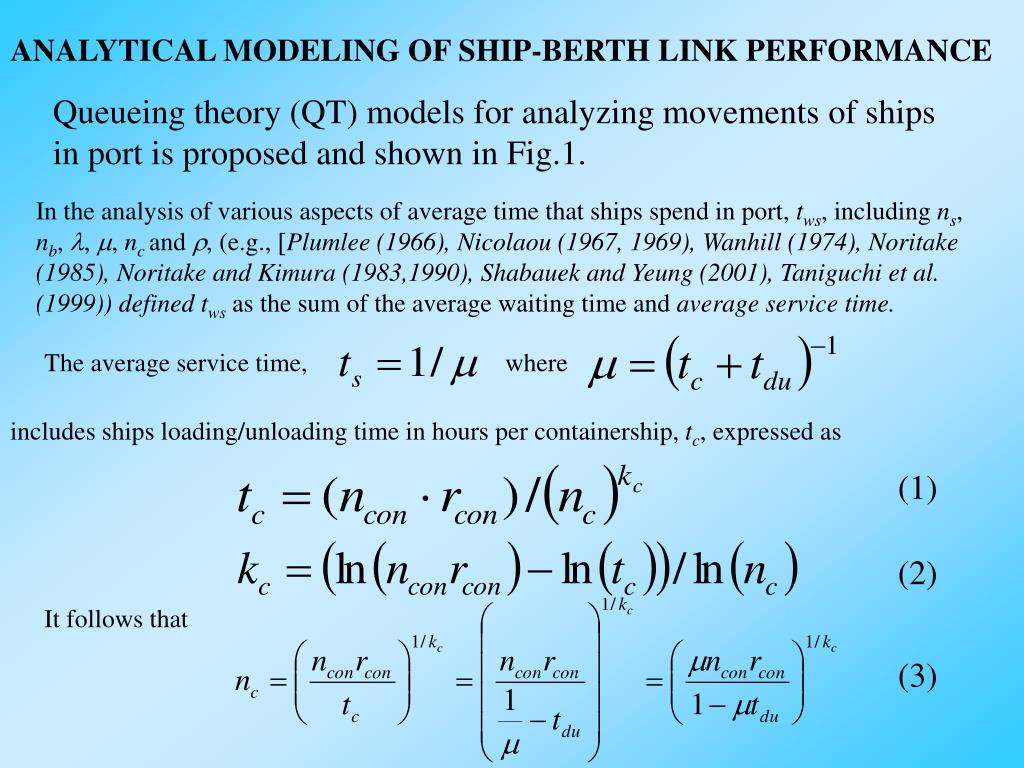 ANALYTICAL MODELING OF SHIP-BERTH LINK PERFORMANCE