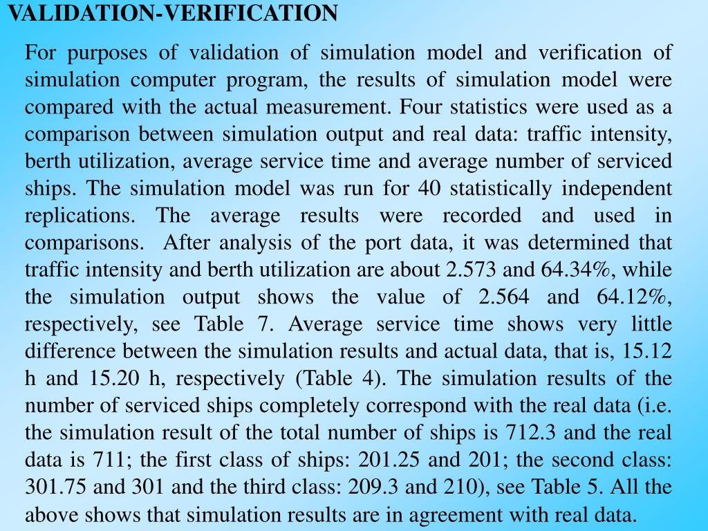 VALIDATION-VERIFICATION