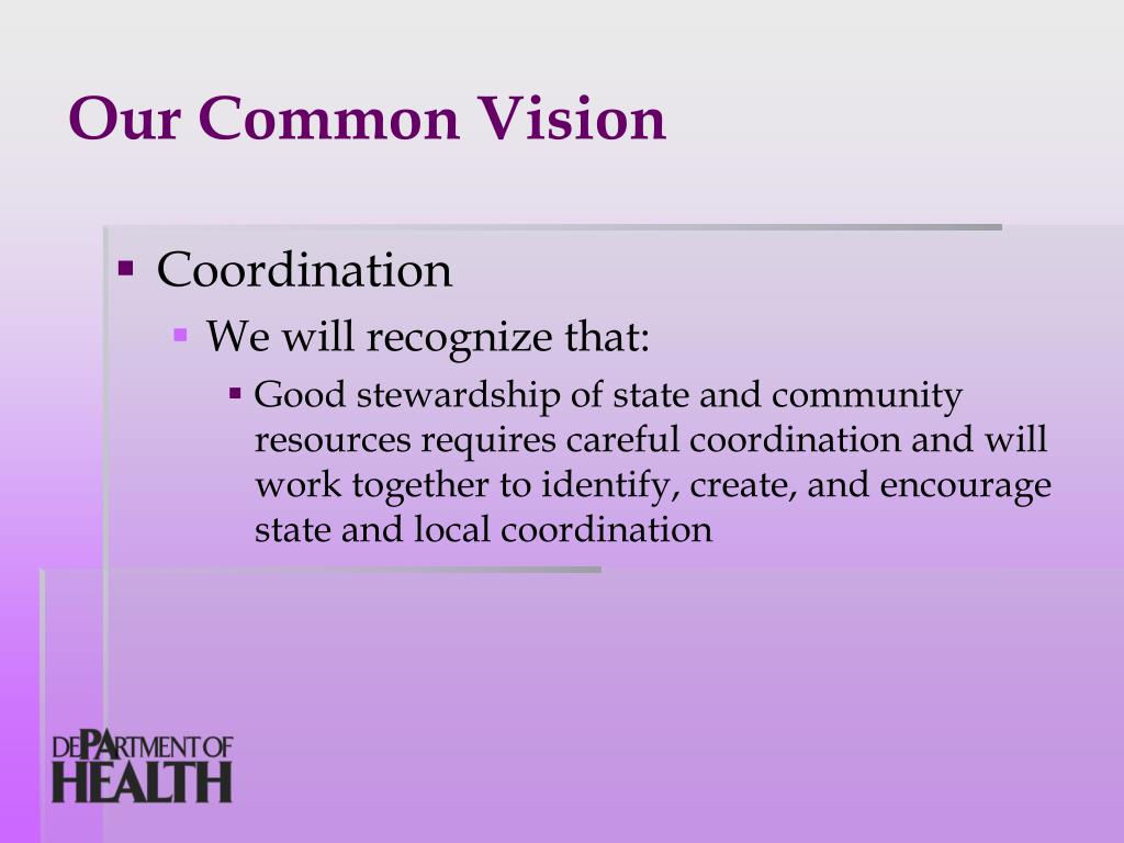 Our Common Vision