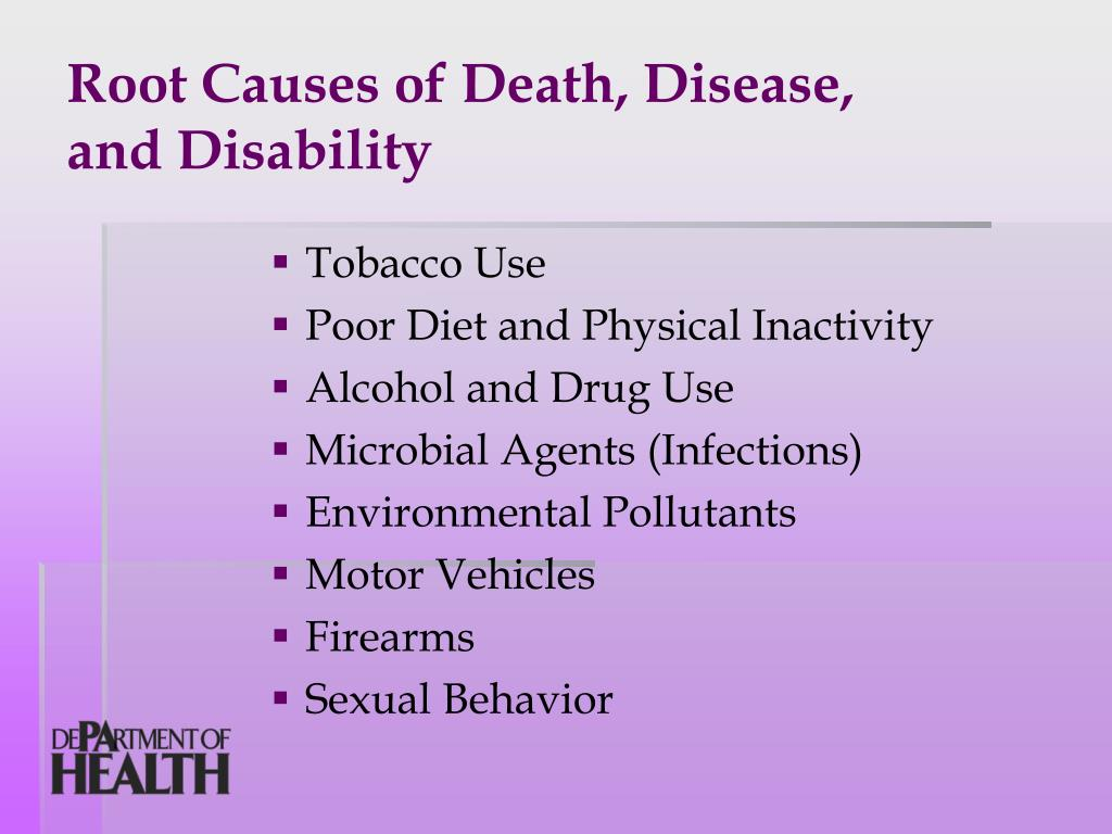 Root Causes of Death, Disease,