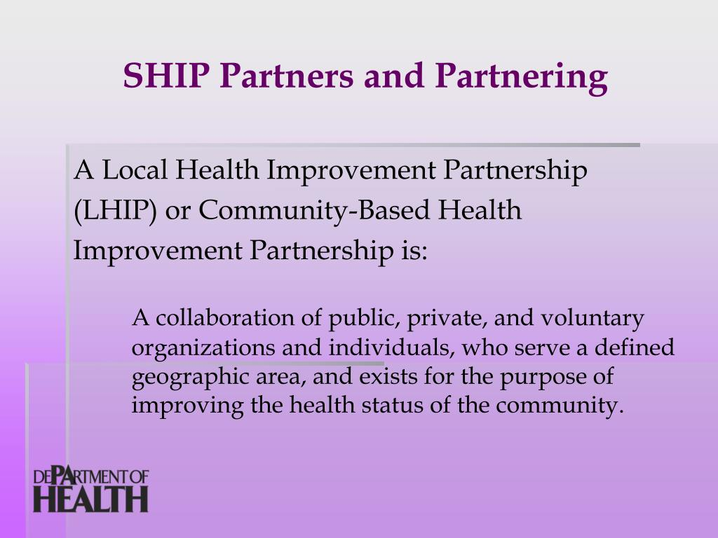 SHIP Partners and Partnering