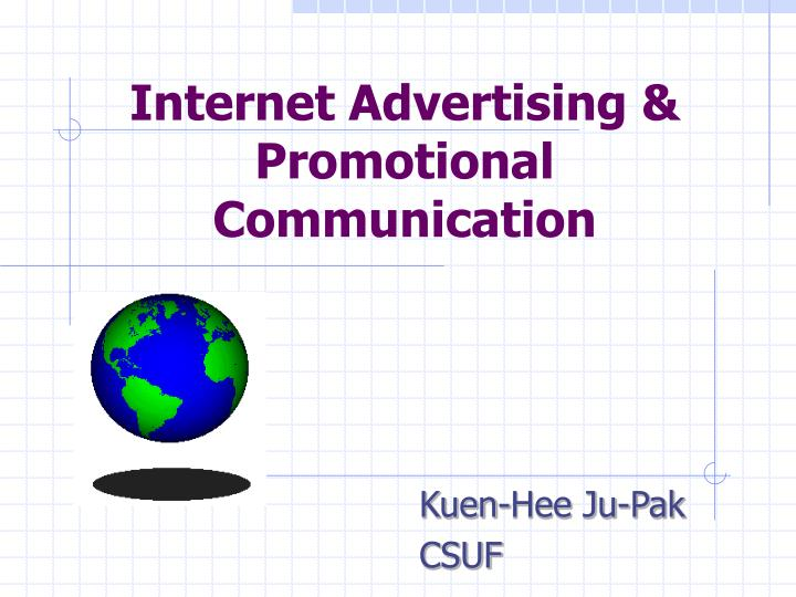 Internet advertising promotional communication