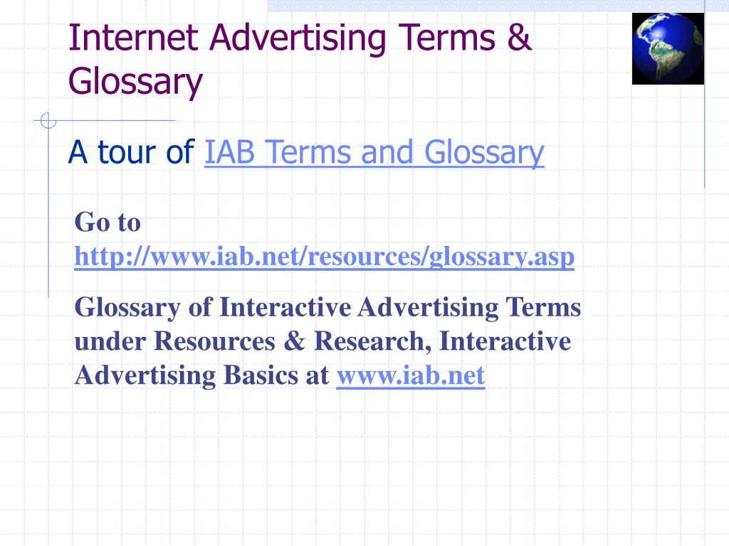 Internet Advertising Terms & Glossary