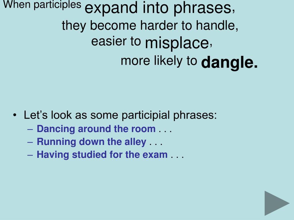 When participles