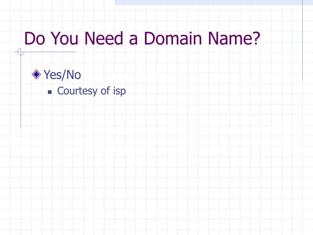 Do You Need a Domain Name?