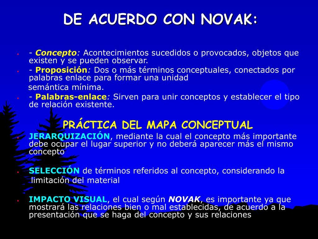 DE ACUERDO CON NOVAK: