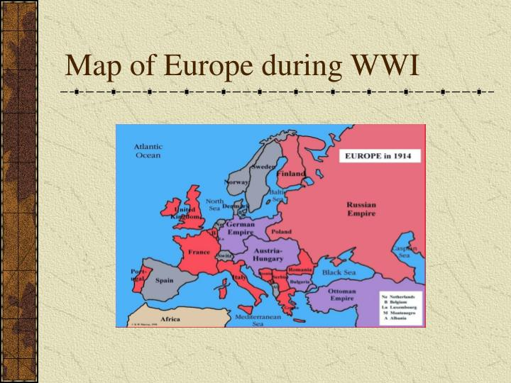 Map of europe during wwi