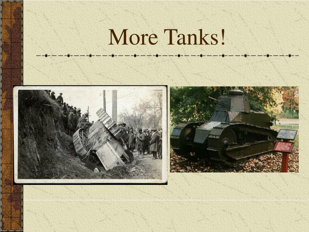 More Tanks!