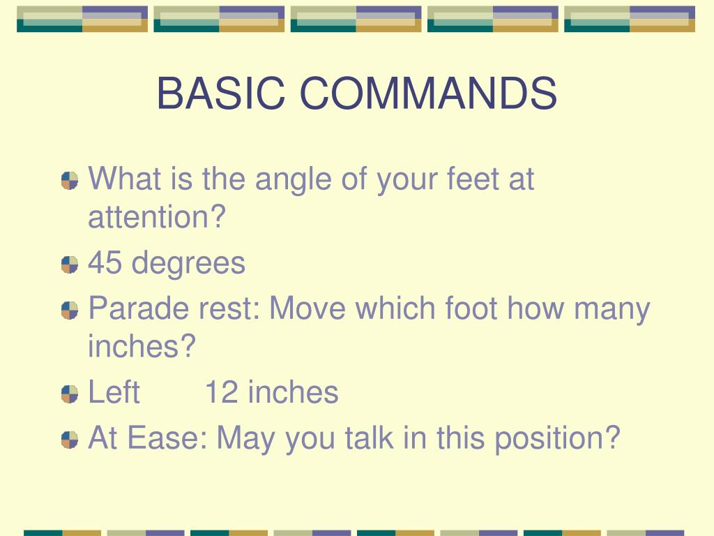 BASIC COMMANDS