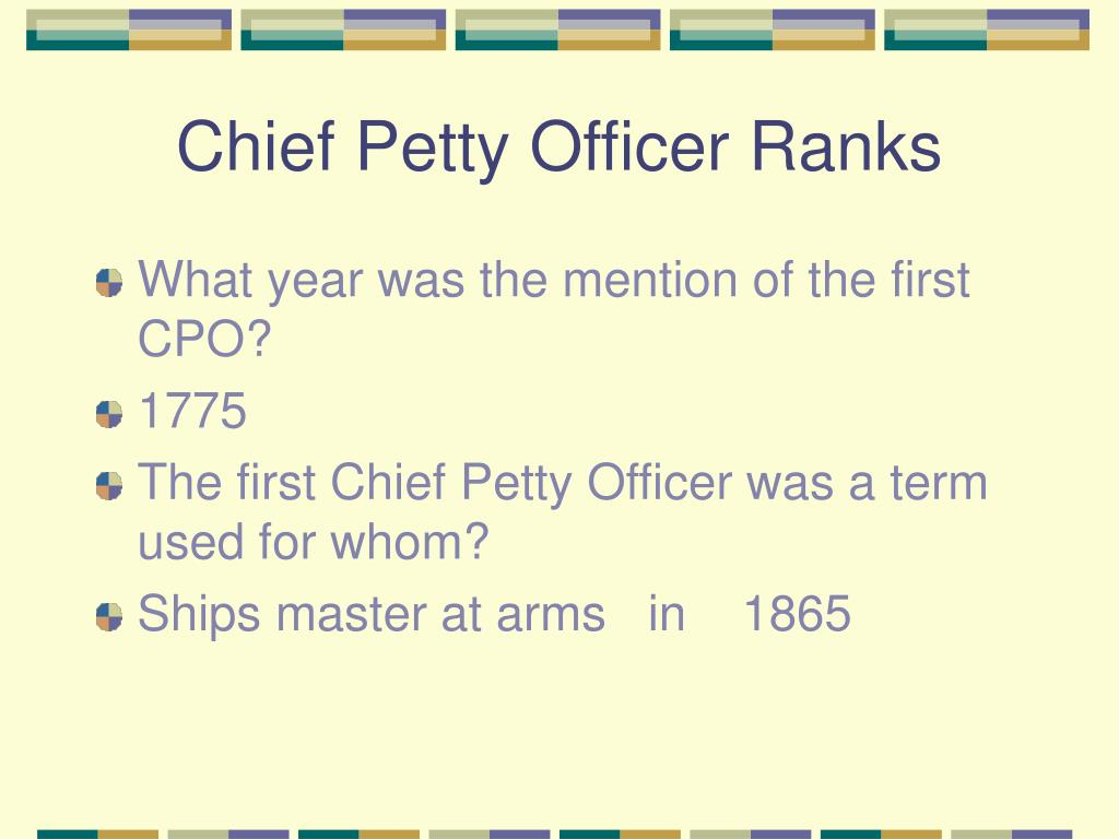 Chief Petty Officer Ranks