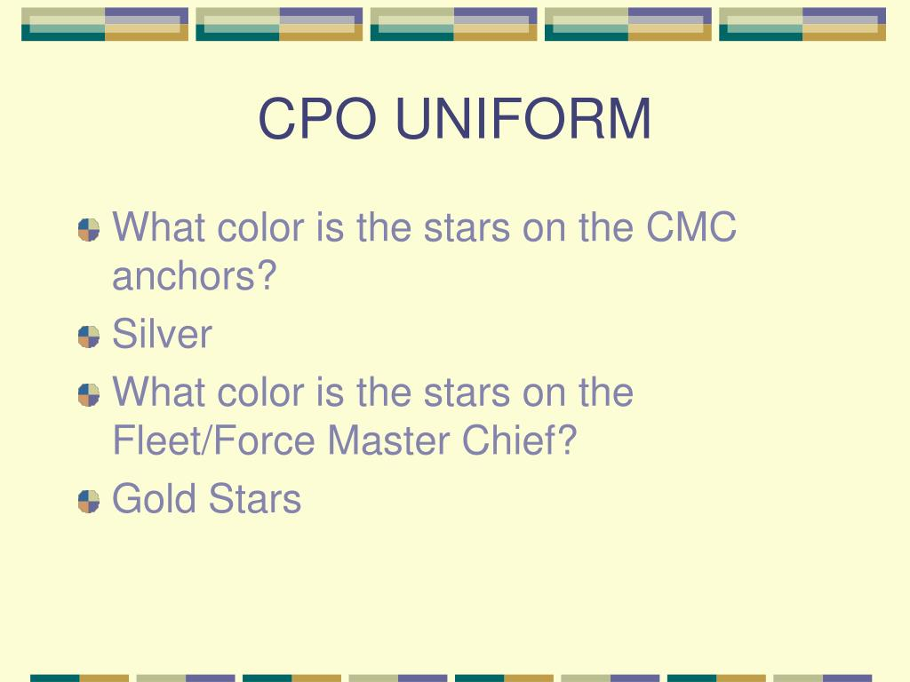 CPO UNIFORM