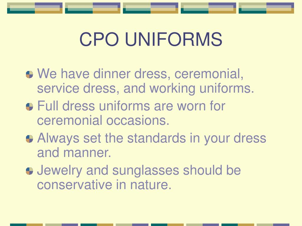 CPO UNIFORMS