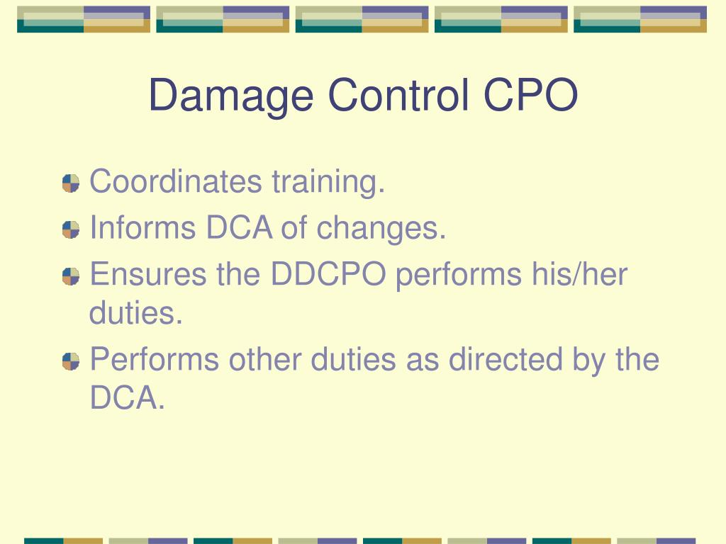 Damage Control CPO