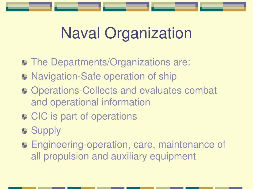 Naval Organization