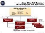 navy ship self defense t e enterprise ipt structure