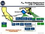 p ra testbed deployment lpd 17 baseline
