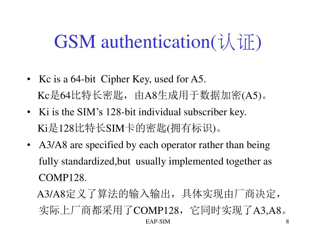 GSM authentication(