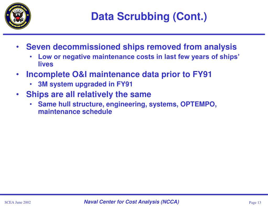 Data Scrubbing (Cont.)
