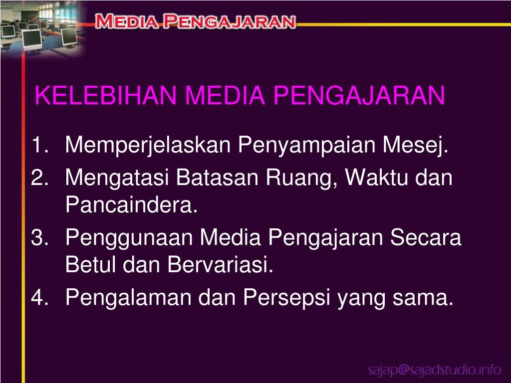 KELEBIHAN MEDIA PENGAJARAN