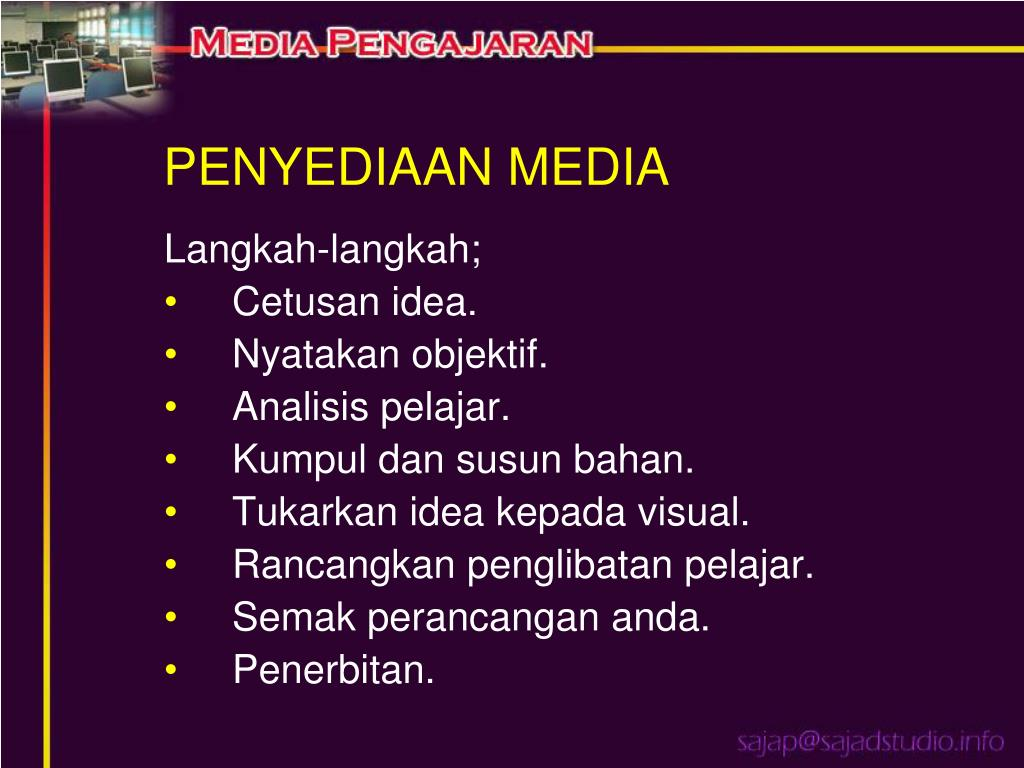 PENYEDIAAN MEDIA
