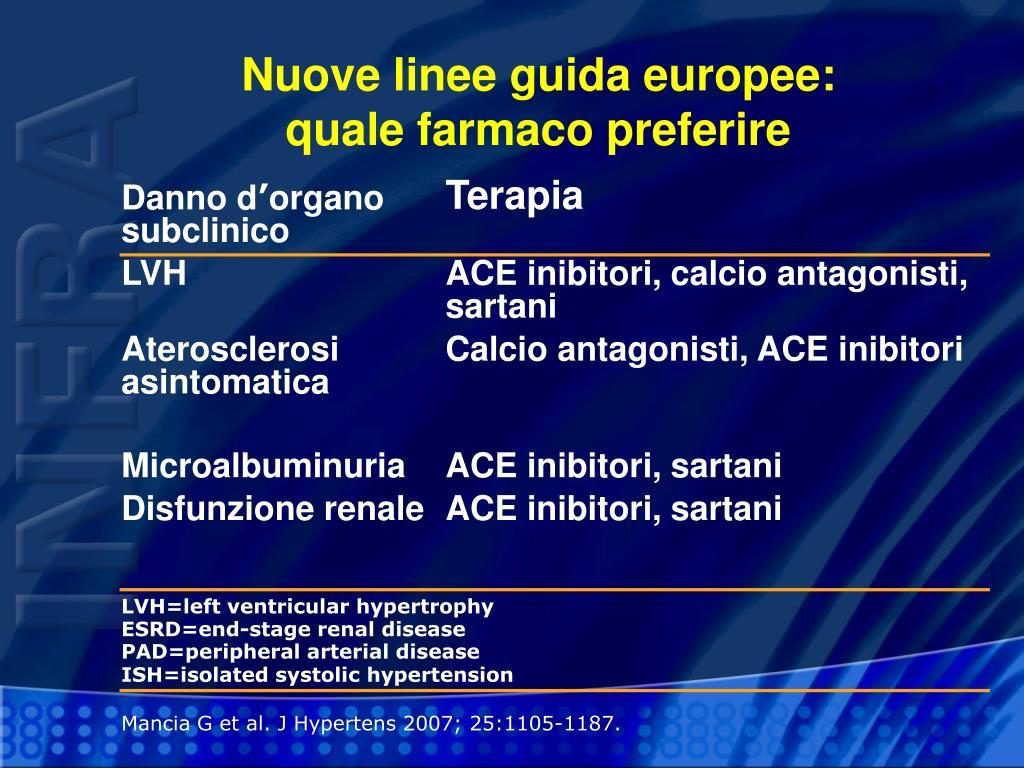 Nuove linee guida europee: