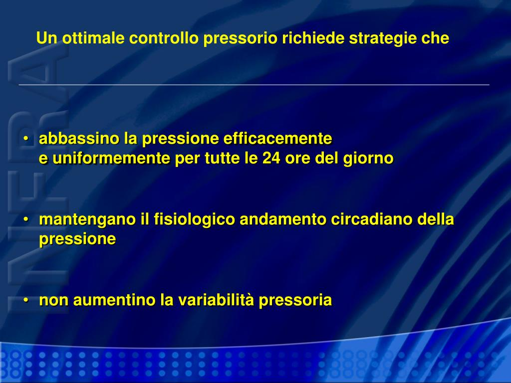 Un ottimale controllo pressorio richiede strategie che