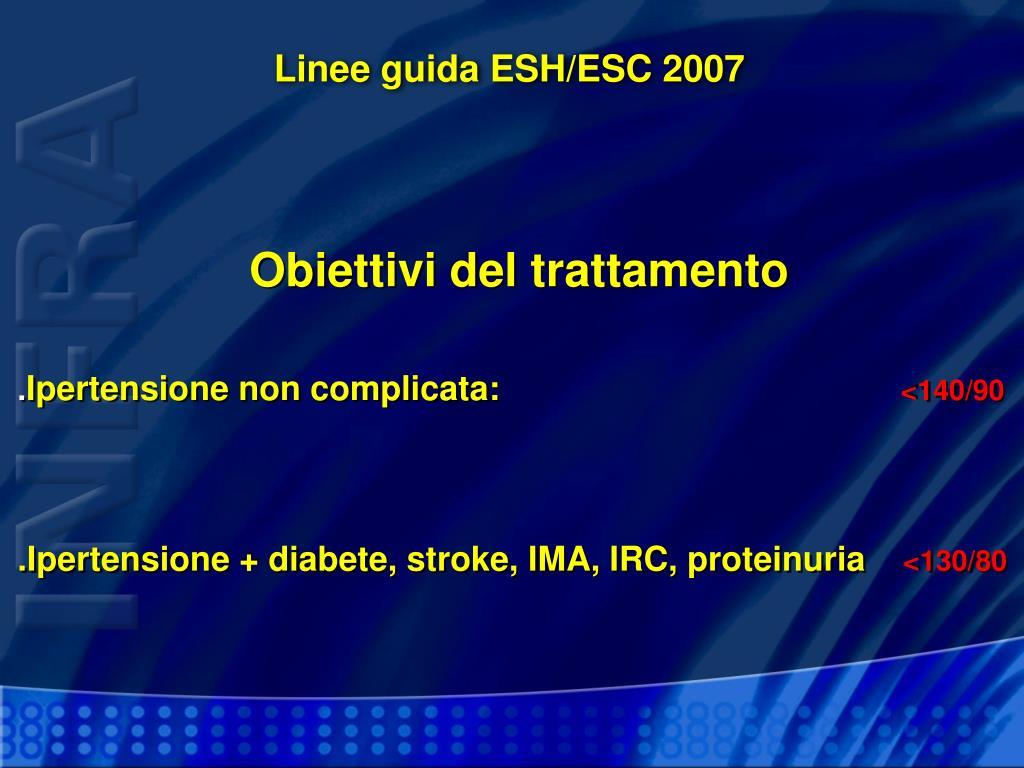 Linee guida ESH/ESC 2007