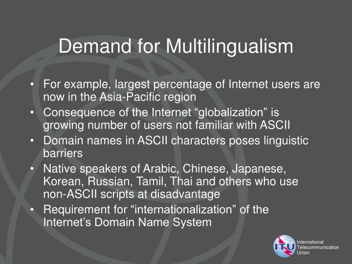 Demand for Multilingualism