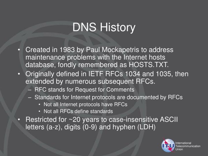 DNS History