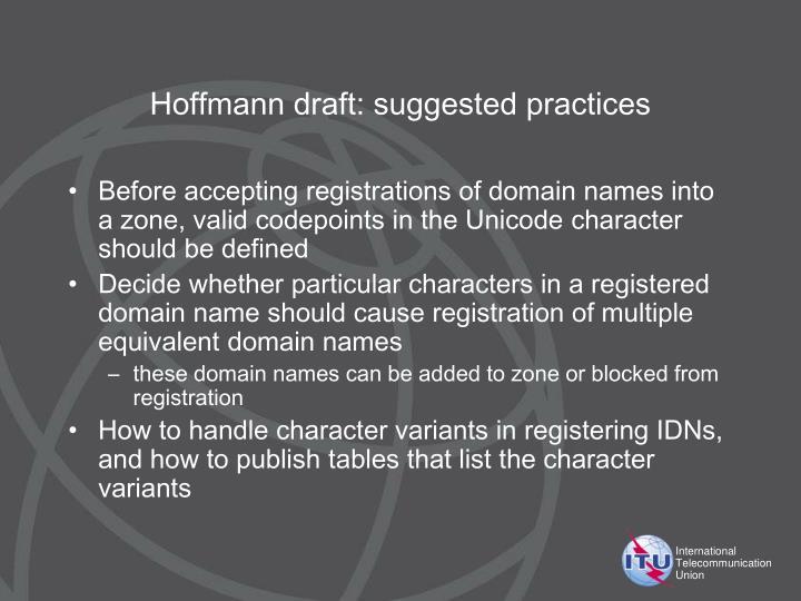 Hoffmann draft: s
