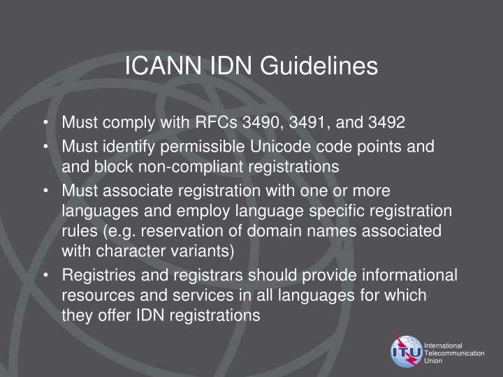 ICANN IDN