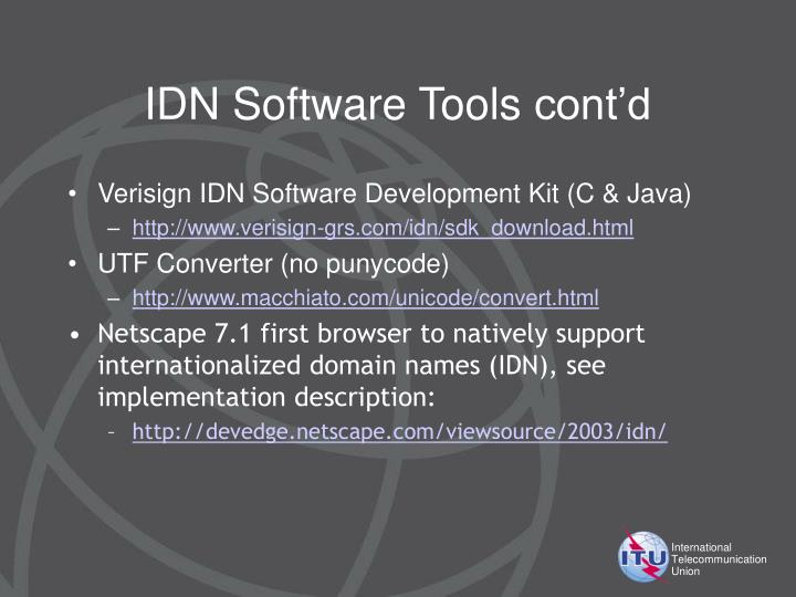 IDN Software Tools