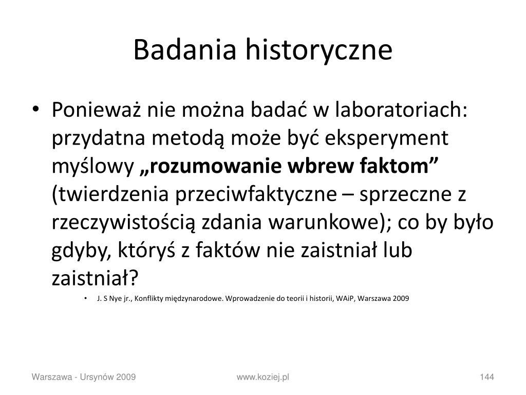 Badania historyczne