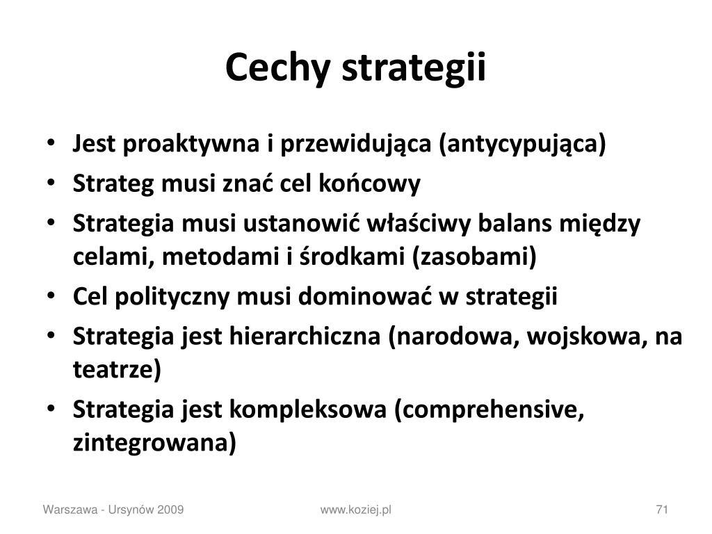 Cechy strategii