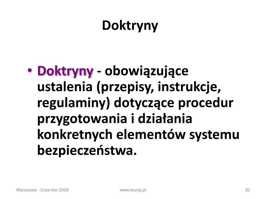Doktryny