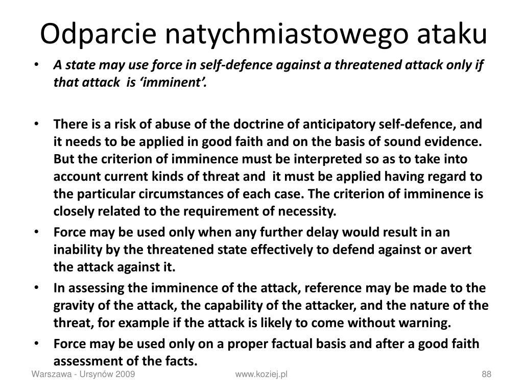 Odparcie natychmiastowego ataku