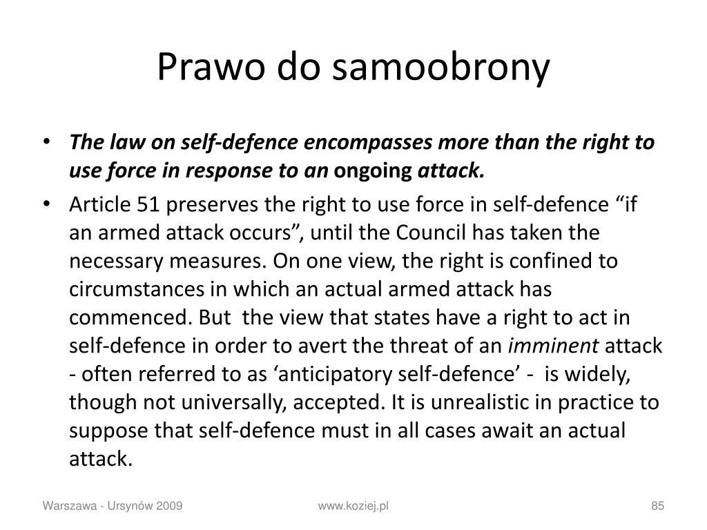 Prawo do samoobrony