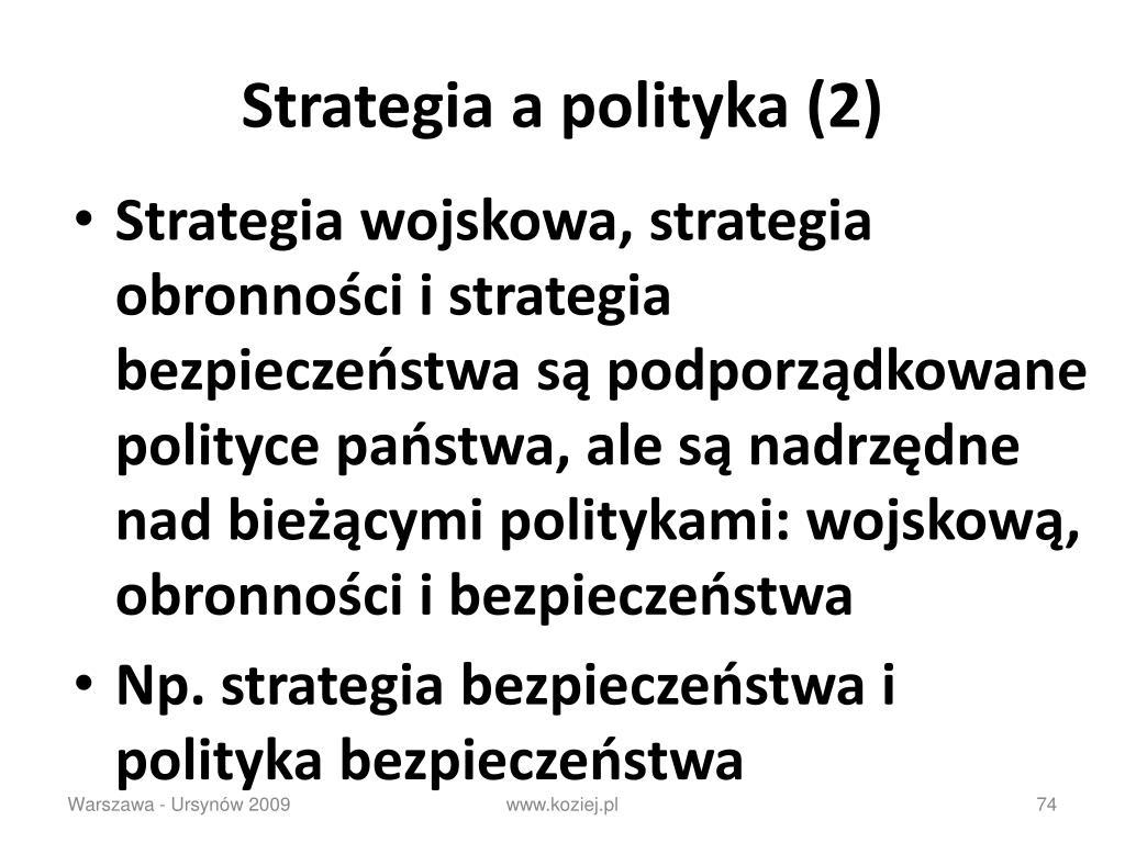 Strategia a polityka (2)