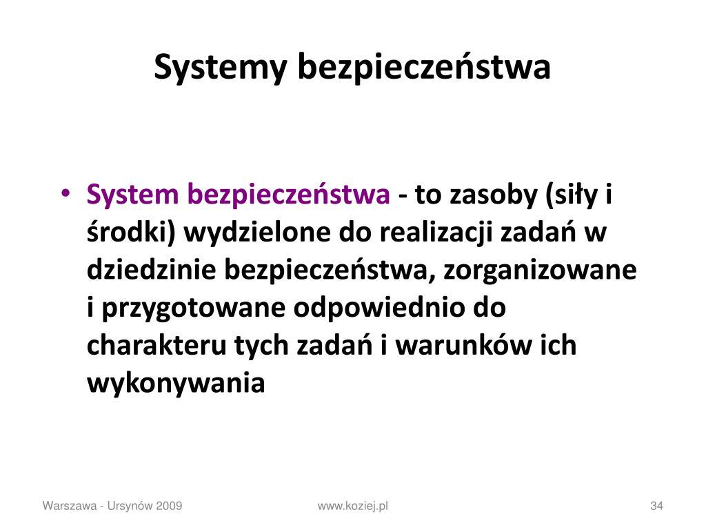 Systemy bezpieczeństwa