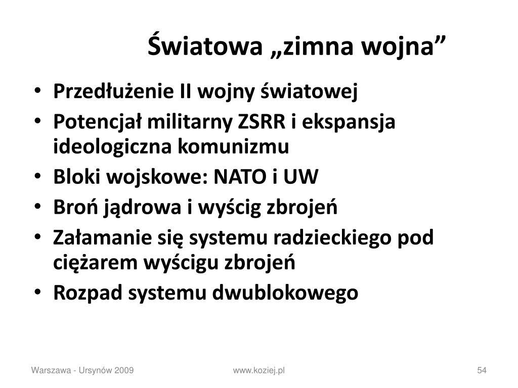 """Światowa """"zimna wojna"""""""