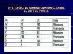 diferencias de composicion i nica entre el lic y lis mmol l