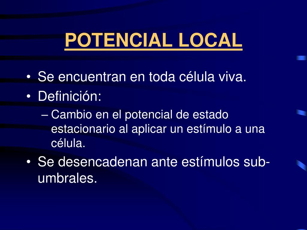 POTENCIAL LOCAL