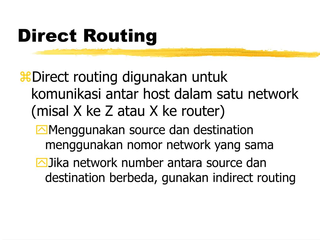 Direct Routing