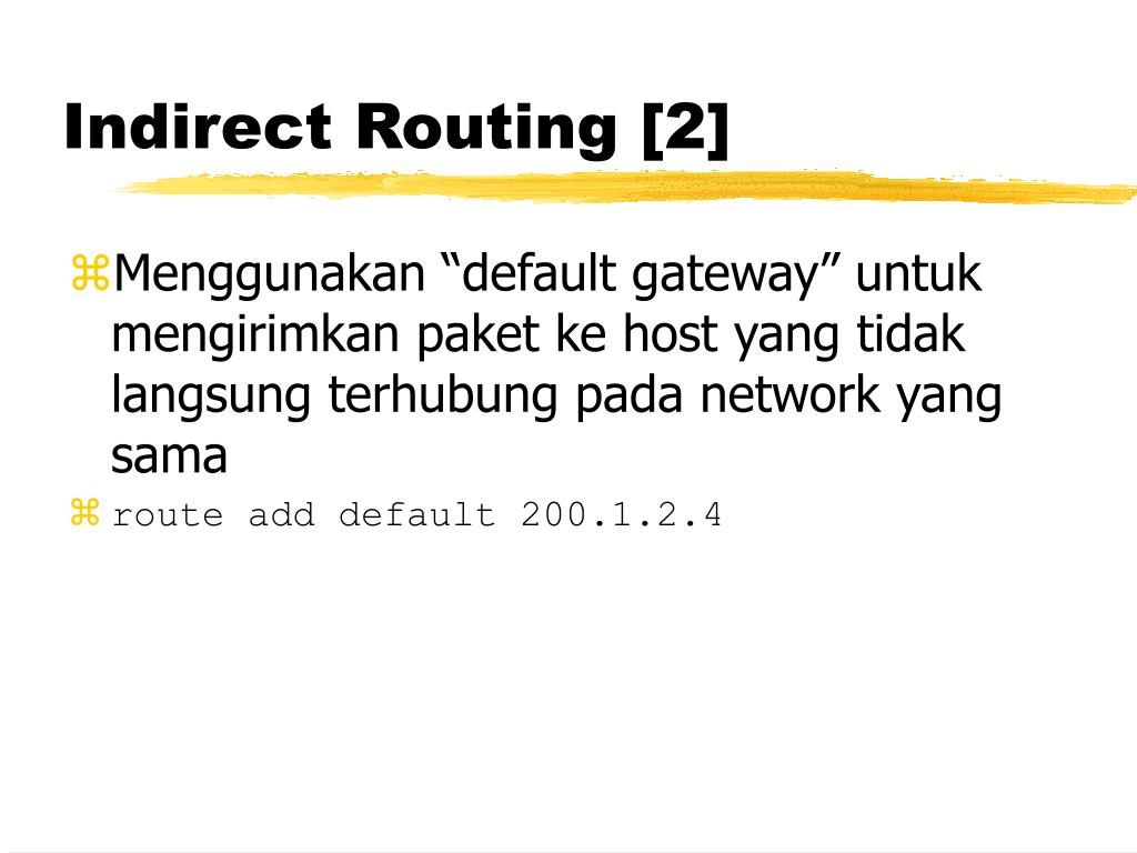 Indirect Routing [2]
