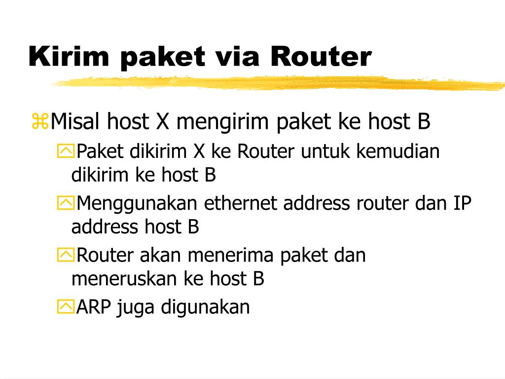 Kirim paket via Router